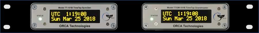 Rack Mountable TT-101B Slave and IRIG-Synchronized TTGM-101B Grandmaster